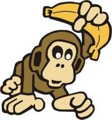 macaco banana
