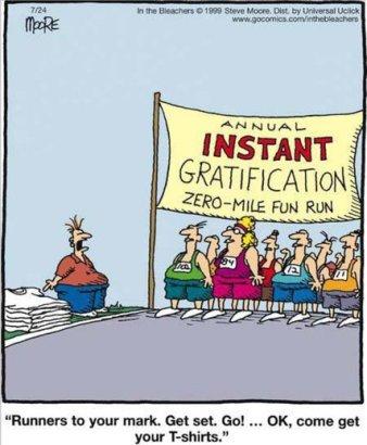 Por que correr se podemos hoje ir direto para a festa pós-prova?