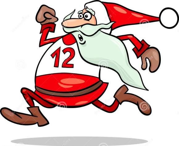 running-santa-claus-cartoon-illustration-funny-character-34649930