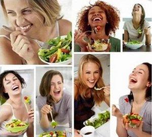 Tire a salada e o sorriso é parecido com fotos de gente correndo em publicações